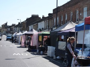 North Cross Road Market, in East Dulwich. Photo: Anna Dent