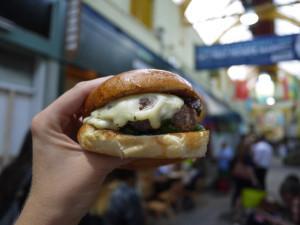 Honest burger: present and correct at Tootopia. Photo: Sarah Fox
