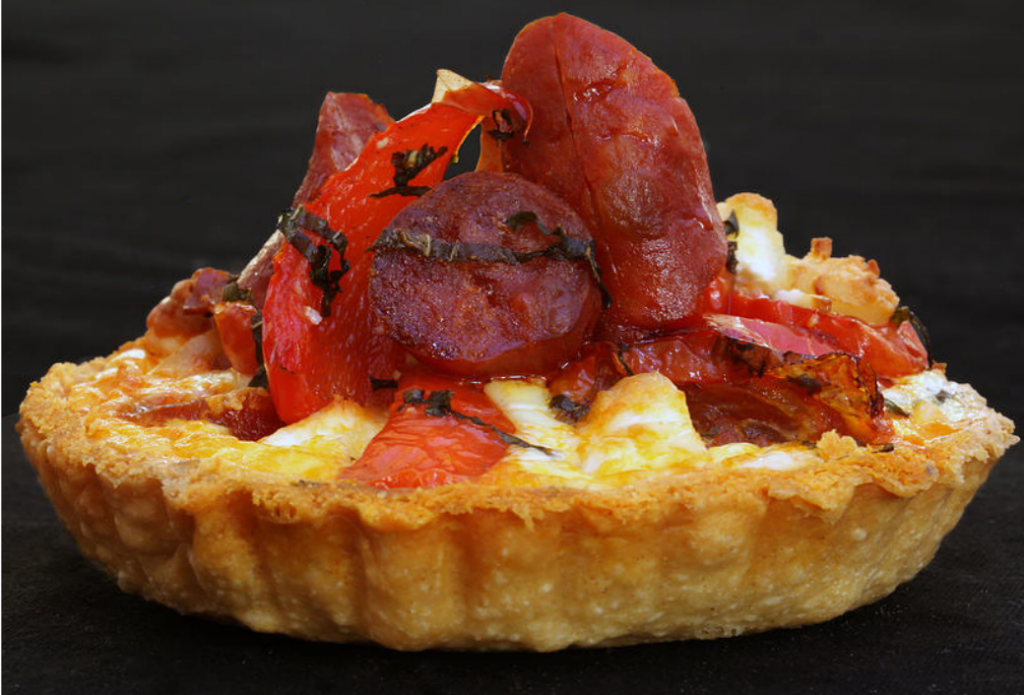 Chprizo and red pepper tart. Photo: PR