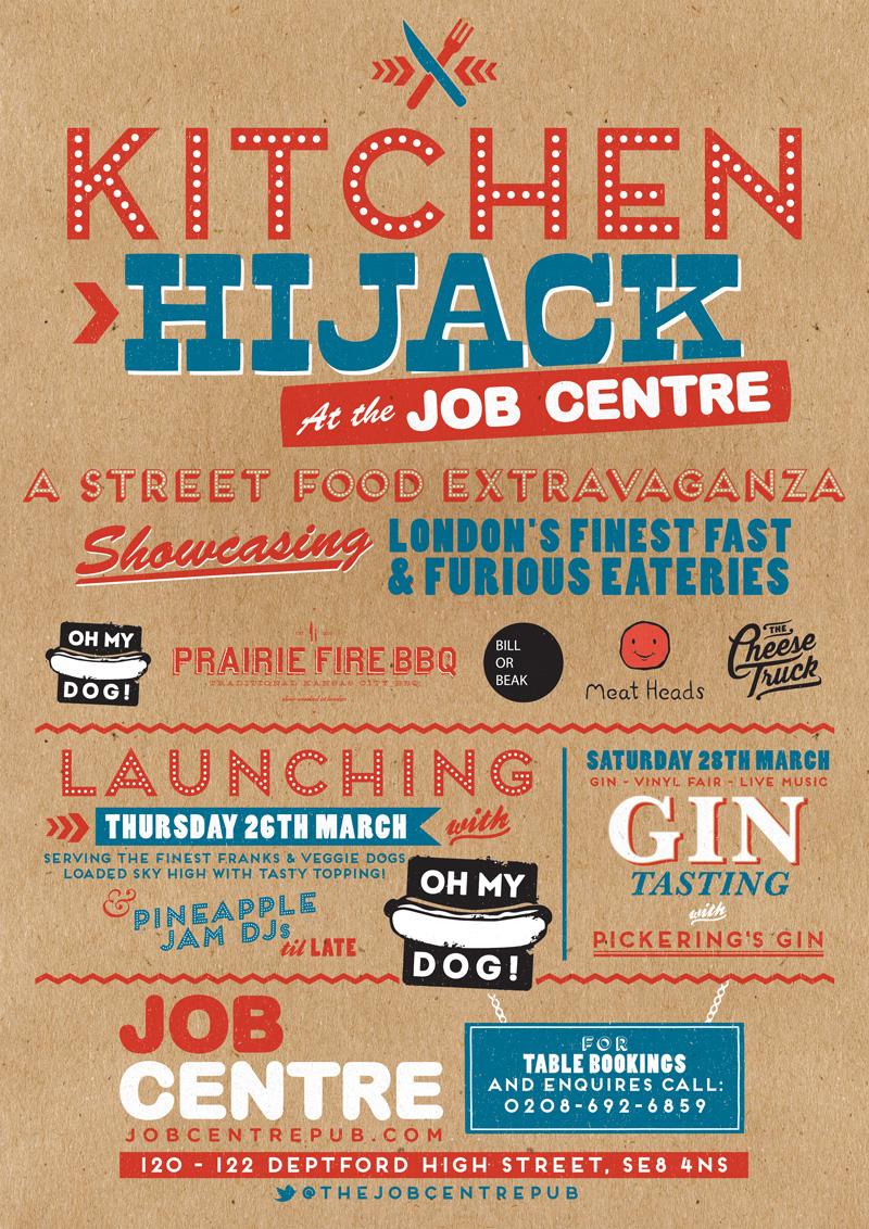 Kitchen Hijack Poster - The Job Centre