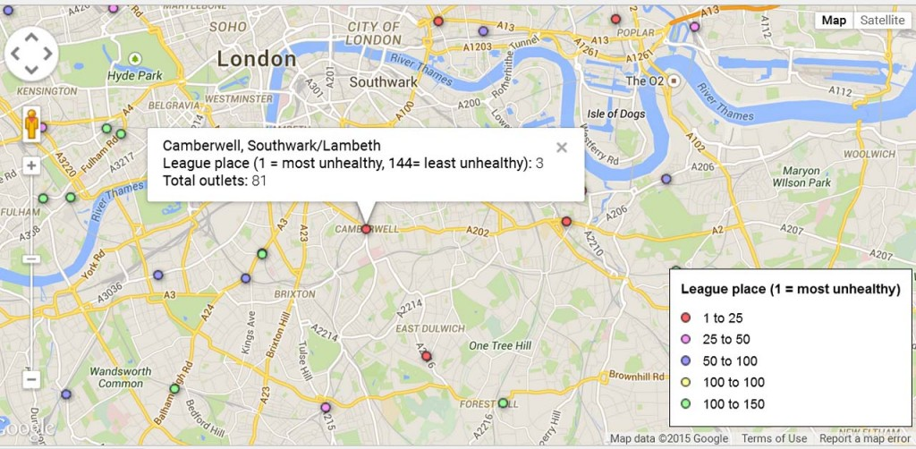 The Guardian's Google Map of high street health
