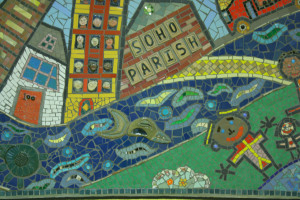 A mosaic created by Soho Parish Primary School