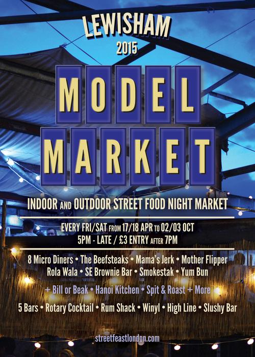 Flyer details for the market.