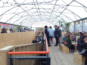 The upstairs 'garden' at Pop. Photo: SE