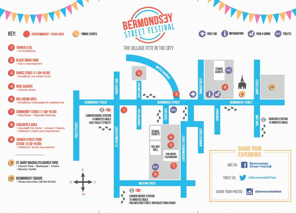 Map of festival. Photo: BSF