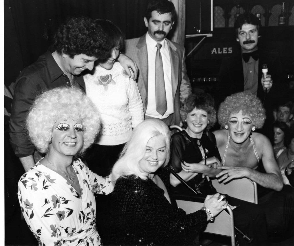 Diana Dors and the Trollettes at a charity fundraising event at the RVT. Photo: RVT