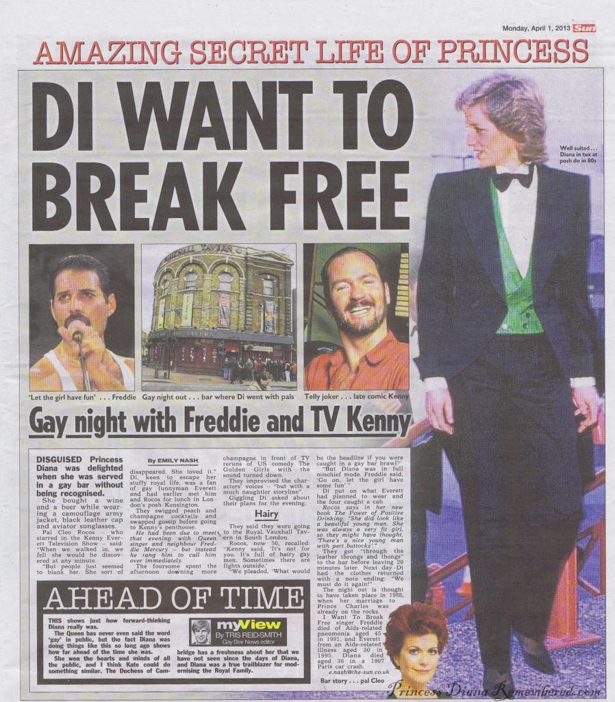 The Sun's report of Princess Di's visit. Image: News International