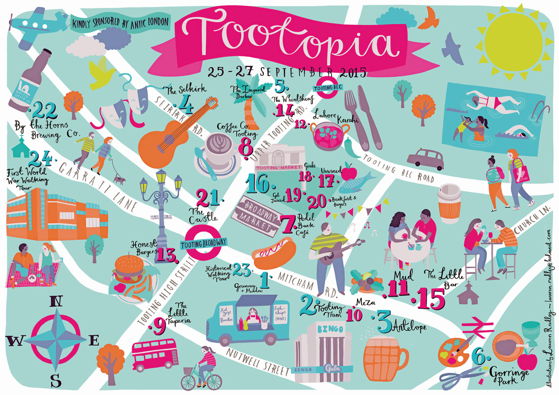 Handy map: this year's festie is looking mighty fine. Image: Tootopia