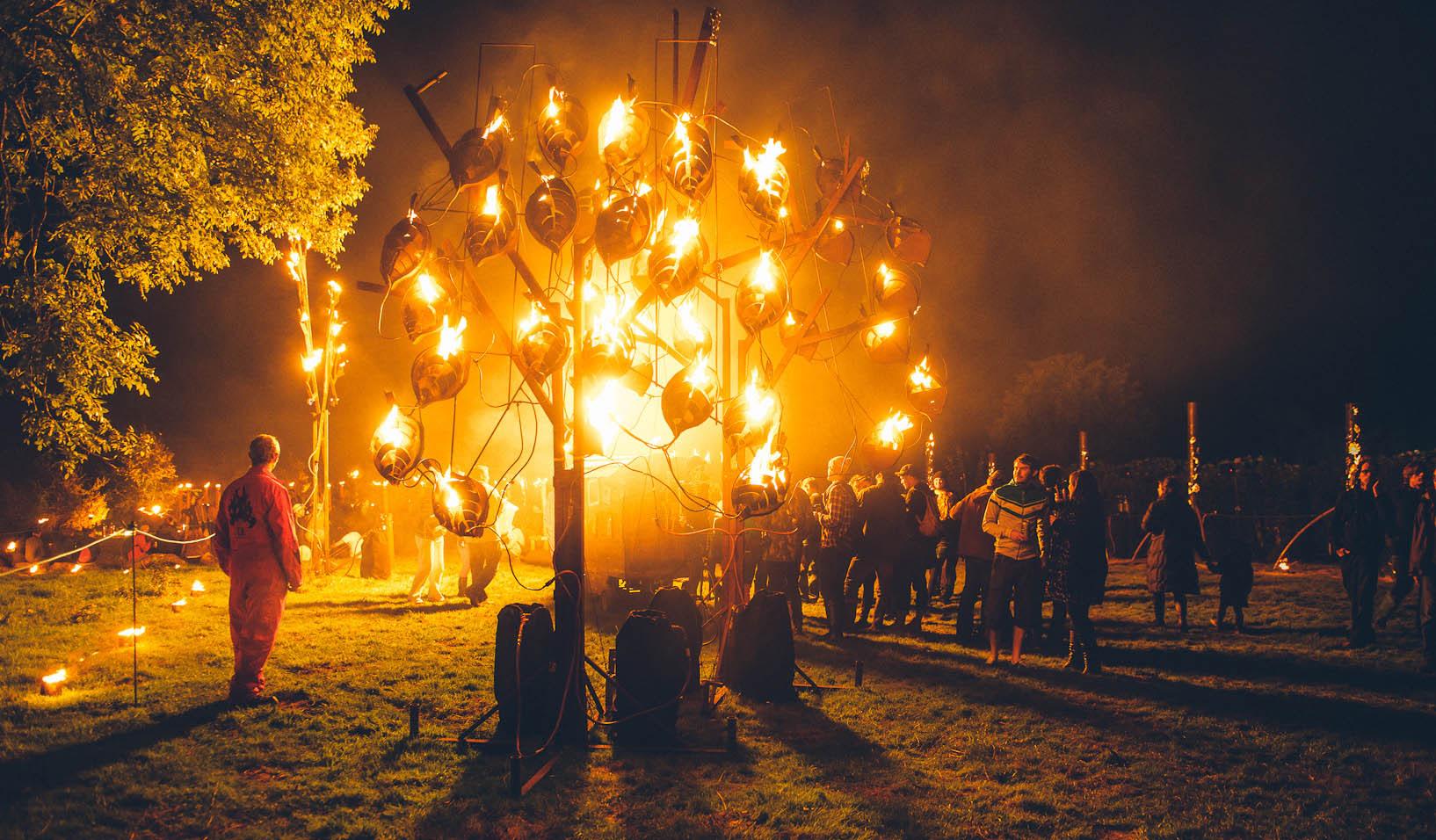 Live fire garden: