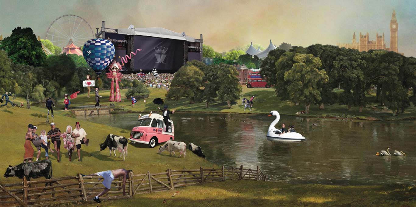 Quirky artwork for the House of Common festival