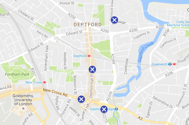 A location map to help you on your way. Photo: Deptford X