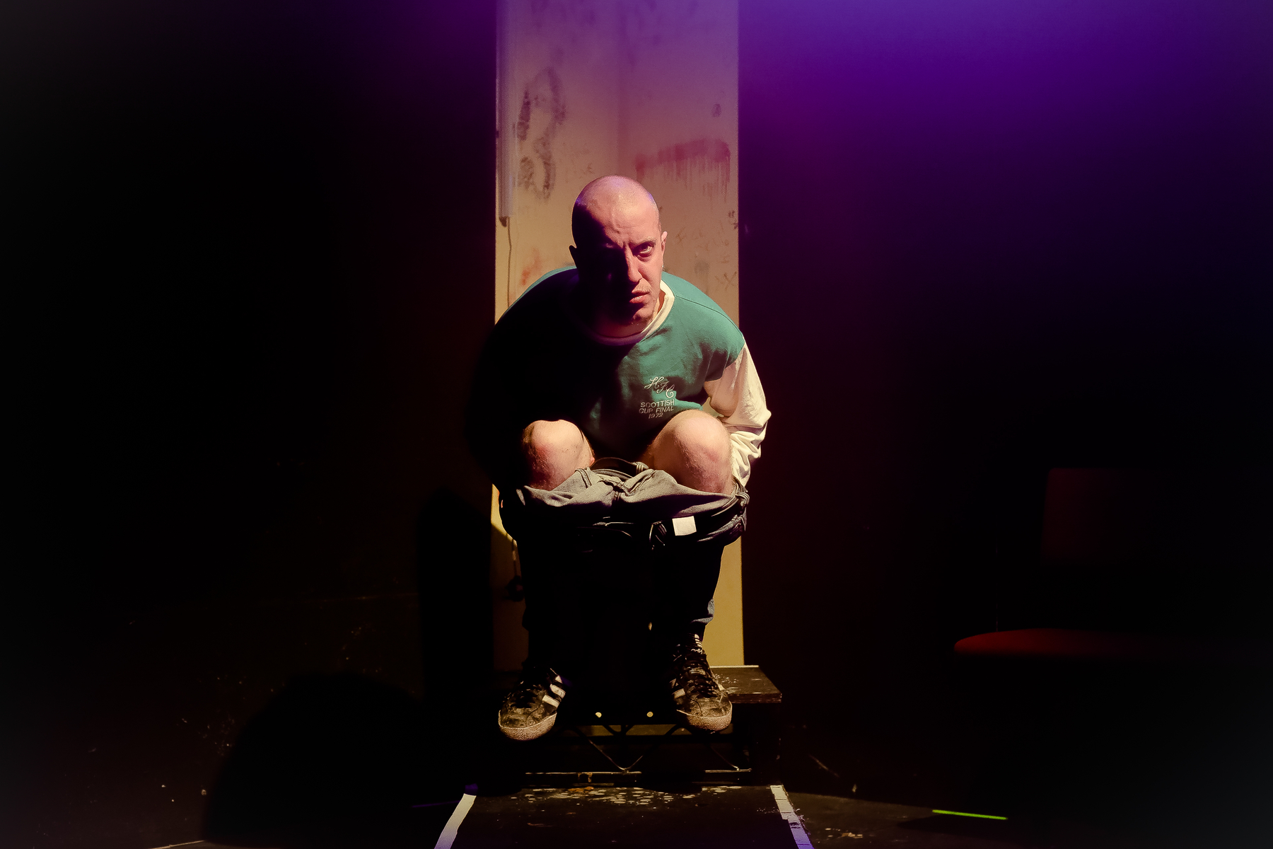 The famous (and in this production shockingly hilarious) toilet scene. Photo: Andreas Grieger