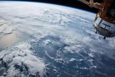 backyard cinema - space shuttle over planet earth