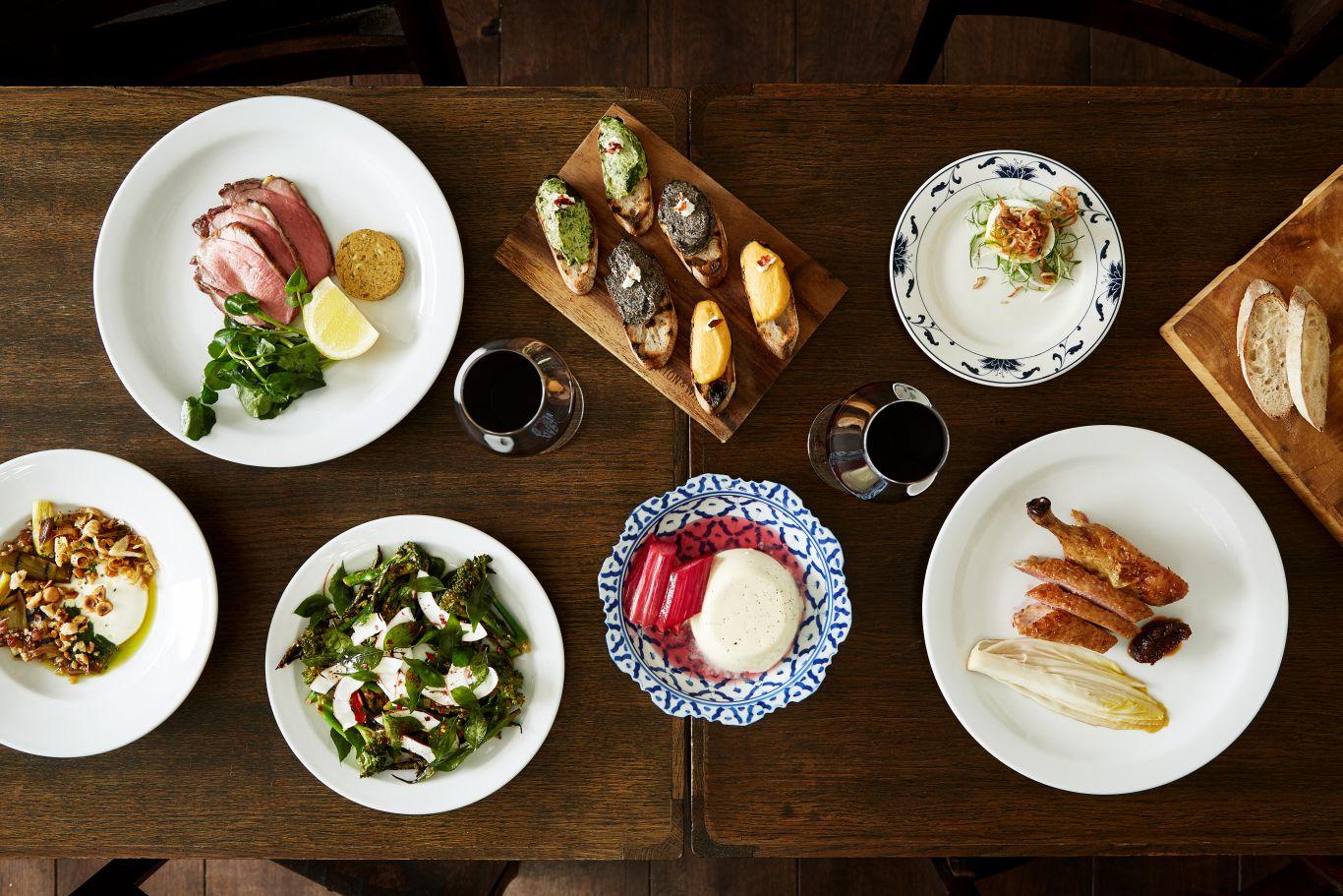 Plates of food at Sparrow Lewisham