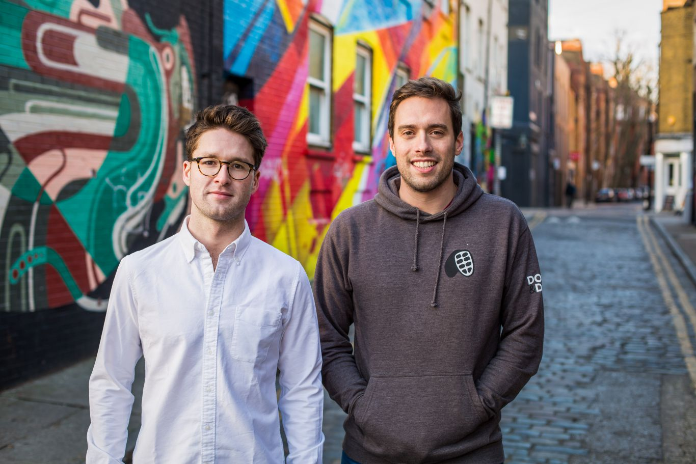 Doisy & Dam founders Ed and Rich in alleyway