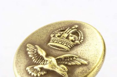 RAF gold tunic button found while mudlarking