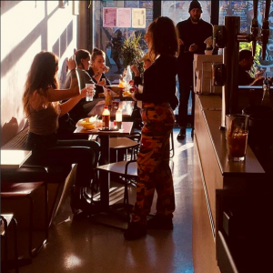 Inside taco queen