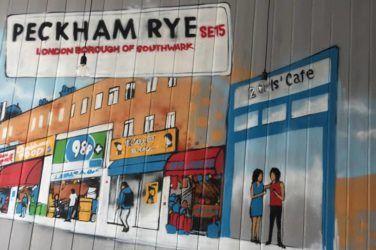 2 Girls' Cafe Peckham mural